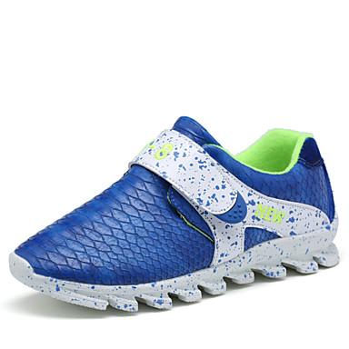 Kadın Erkek Genç Erkek Genç Kız Ayakkabı Yapay Deri Bahar Yaz Sonbahar Kış Rahat Yenilikçi Sihirli Bant Uyumluluk Atletik Günlük Siyah