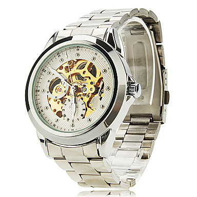 SHENHUA® Men's Watch Auto-Mechanical Skeleton Watch Water Resistant Cool Watch Unique Watch Fashion Watch