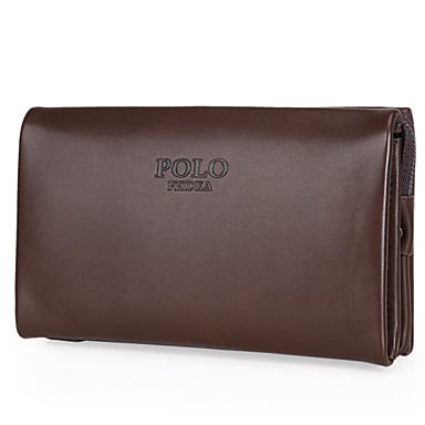 Men Bags All Seasons Cowhide Clutch Evening Bag for Shopping Casual Office & Career Brown
