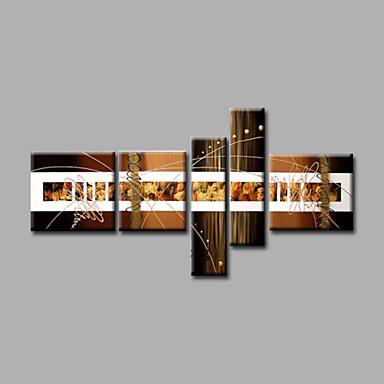 El-Boyalı SoyutModern Beş Panelli Kanvas Hang-Boyalı Yağlıboya Resim For Ev dekorasyonu