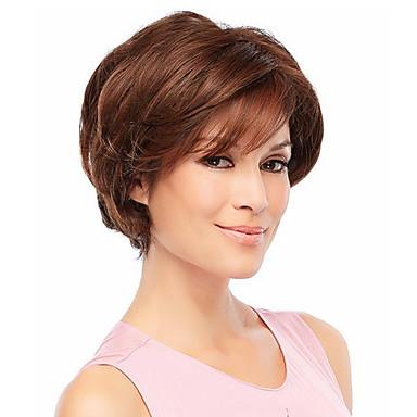 povoljno Perike i ekstenzije-Ljudski kose bez kaplama Ljudska kosa Wavy Kratke frizure 2019 Stil Capless Perika