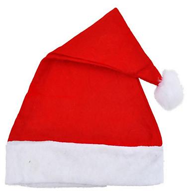 Ternos de Papai Noel Chapéus Unisexo Dia Das Bruxas Natal Festival/Celebração Trajes da Noite das Bruxas Cor Única