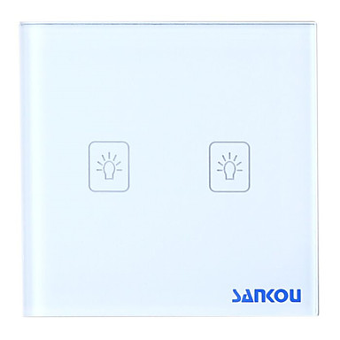 Buy A8-02 1Way Touch Switch Crystal glass panel