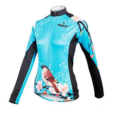 ILPALADINO Bisiklet Forması Kadın's Uzun Kollu Bisiklet Forma Üstler Bisiklet Elbiseleri Hızlı Kuruma Nefes Alabilir Çiçek/Botanik