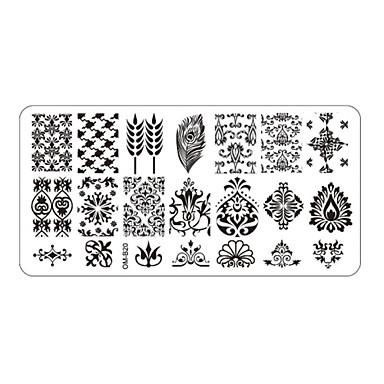 - Parmak / Ayak Parmağı - Diğer Dekorasyonlar - Metal - 5pcs nail plates -Adet 12cmX6cm each piece - cm