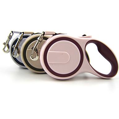 Dog Leash Adjustable / Retractable Waterproof Automatic Rubber Nylon Beige Gray Pink