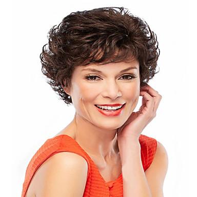 Sentetik Saç peruk Dalgalı Bonesiz Şort