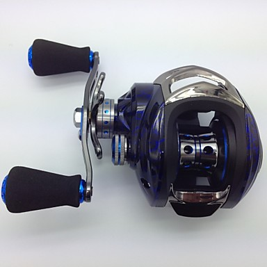 cheap Fishing Reels-Fishing Reel Baitcasting Reel 6.3:1 Gear Ratio+14 Ball Bearings Left-handed Bait Casting / Freshwater Fishing / Lure Fishing - KW150 R