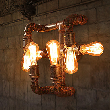 Rustiikki Seinävalaisimet Metalli Wall Light 110-120V / 220-240V max60w