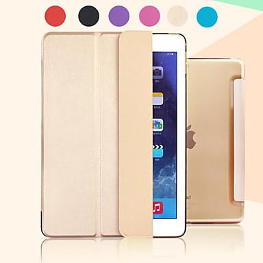 Pouzdro Uyumluluk Satandlı Oto Uyu / Uyan Şeffaf Origami Tam Kaplama Kılıf Tek Renk PU Deri için iPad Pro 12.9''