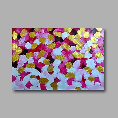 Pintados à mão Abstrato / Floral/BotânicoModerno 1 Painel Tela Pintura a Óleo For Decoração para casa