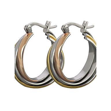 Women's Stud Earrings Hoop Earrings Classic Costume Jewelry Rose Gold Titanium Steel Jewelry For