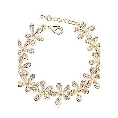 Women's Crystal Rhinestone Charm Bracelet - Snowflake Silver Golden Bracelet For Wedding Party Daily Casual Sports