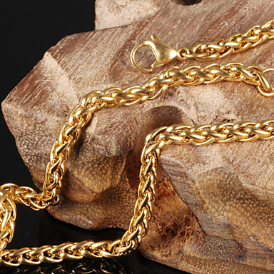 Men's / Women's Choker Necklace - Gold Plated Necklace For Wedding, Party, Daily