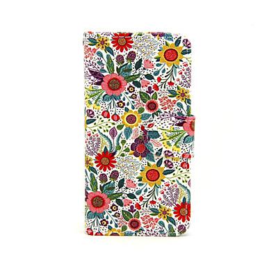 Case Kompatibilitás iPhone X iPhone 8 iPhone 5 tok Pénztárca Kártyatartó Állvánnyal Flip Minta Teljes védelem Virág Kemény Műbőr Bőr mert