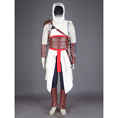 Inspired by Assassin Altair Video Game Cosplay Costumes Cosplay Suits Patchwork Pants Gloves Belt Bag Cloak Shoe Cover T-shirt Hat
