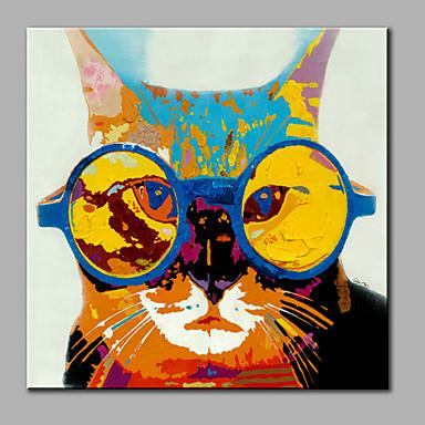 Kézzel festett ÁllatModern Egy elem Vászon Hang festett olajfestmény For lakberendezési
