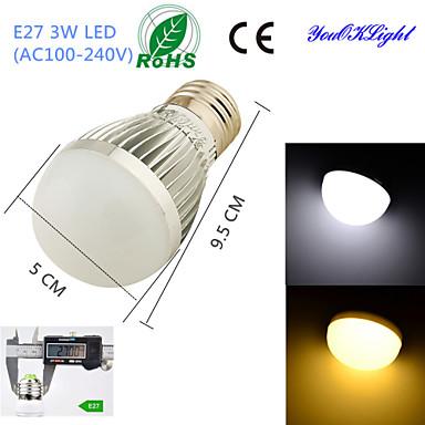 E26/E27 LED Küre Ampuller B 6 led SMD 5730 Dekorotif Sıcak Beyaz Serin Beyaz 260lm 3000/6000K AC 100-240V