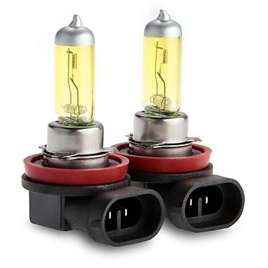 2x h11 xenon dourado 55watt escondeu halogênio luz de nevoeiro lâmpada DC 12V