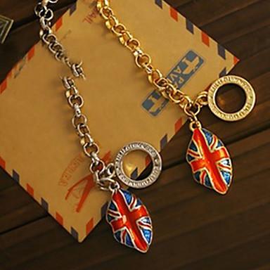 Férfi Elbűvölő karkötők Ezüstözött Arannyal bevont Egyedi Divat Brit Ékszerek Zászló A Union Jack Ezüst Aranyozott Ékszerek 1db