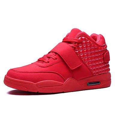 للرجال PU ربيع / خريف مريح أحذية رياضية الركض ضد الزحلقة أبيض / أسود / أحمر
