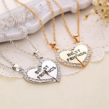 Szív Szív kezdeti ékszerek Nyaklánc medálok Réz Nyaklánc medálok , Köszönöm Napi Hétköznapi Szerető