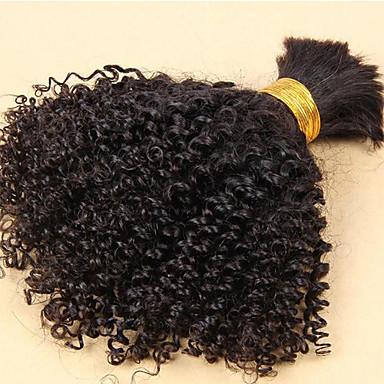 Brazilian Hair Curly / Classic / Kinky Curly Virgin Human Hair Natural Color Hair Weaves 3 Bundles Human Hair Weaves