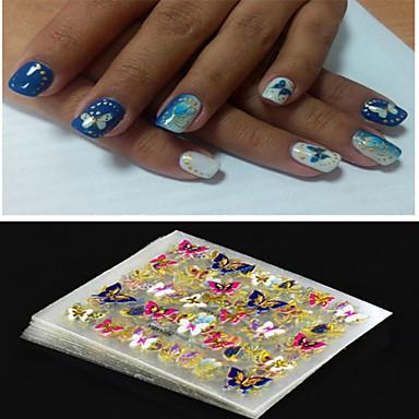 4 pcs Punk / Mote Nail Smykker / 3D Nail Stickers Daglig / PVC