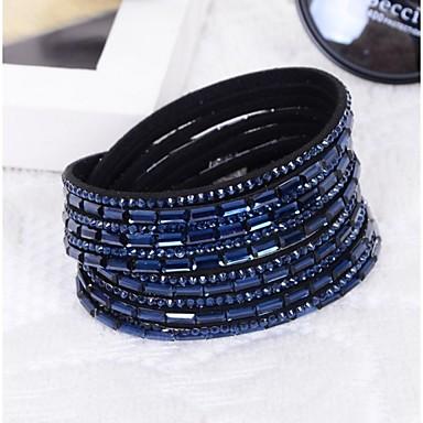voordelige Herensieraden-Heren Dames Bedelarmbanden Glas Armband sieraden Blauw / Roze / 7-Kleurige LED Voor Kerstcadeaus Bruiloft Feest Dagelijks Causaal