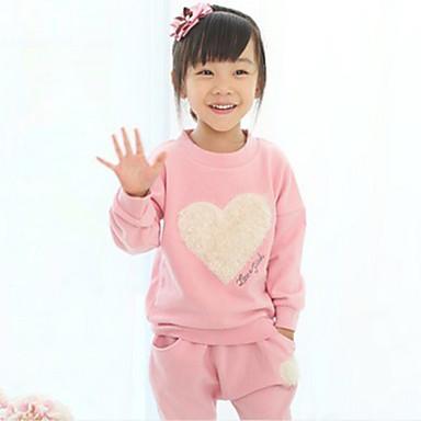 Toddler Girls' Floral Print Long Sleeve Cotton Clothing Set