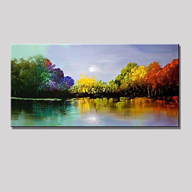 Hang malte oljemaleri Håndmalte - Abstrakt / Landskap Moderne Inkluder indre ramme / Stretched Canvas