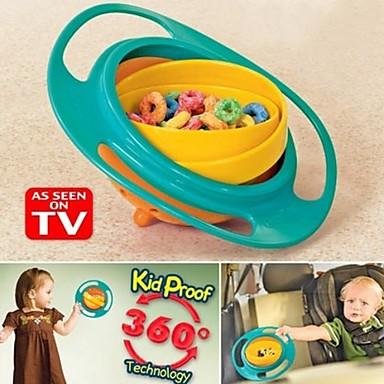 fôring bolle plast 360 graders roterende fleksible barn bolle trening bolle roterende bolle gyro babymat ikke søler