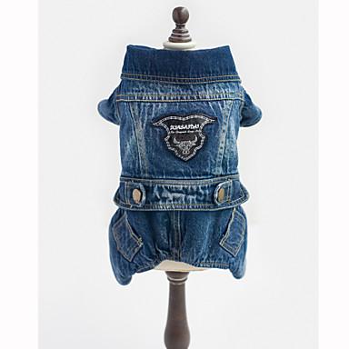 Köpek Tulumlar Kurtki jeansowe Köpek Giyimi Kovboy Moda Kotlar Mavi Kostüm Evcil hayvanlar için