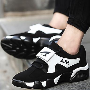 Női Cipő Szintetikus Tél Tavasz Nyár Ősz Kényelmes Görkorcsolya cipők Kosárlabda Kerek orrú Fűző Kompatibilitás Sport Fekete Fehér Piros