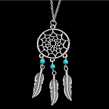 Women's Fashion European Pendant Necklace Turquoise Alloy Pendant Necklace , Party Daily Casual