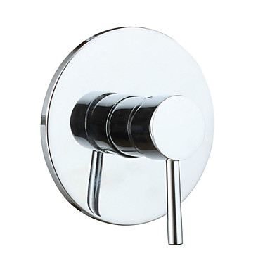 Single Function Hot and Cold Brass Single Handle Round Shower Bathroom Wall Flick Mixer Value Faucet