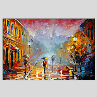 Hand-Painted Landscape Horizontal, European Style Modern Canvas Oil Painting Home Decoration One Panel