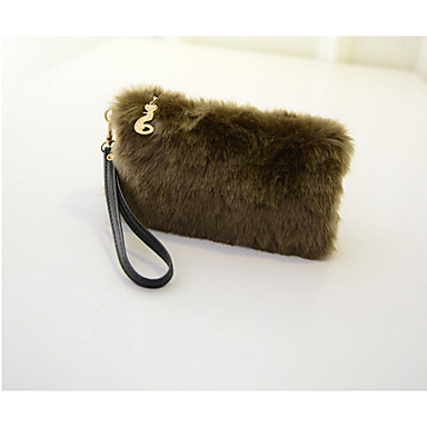 Women Bags Other Leather Type Wristlet for Formal White Black Fuchsia Brown Blue