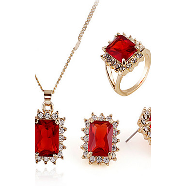de178c9adf9b Zirconia Cúbica diamante pequeño Corte esmeralda Conjunto de joyas  Zirconio