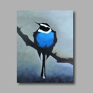 Hand-Painted Abstract Animals Vertical, Modern Canvas Oil Painting Home Decoration One Panel
