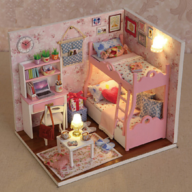 Miniature Dollhouse With Furniture Kids Diy Mini Doll House Model