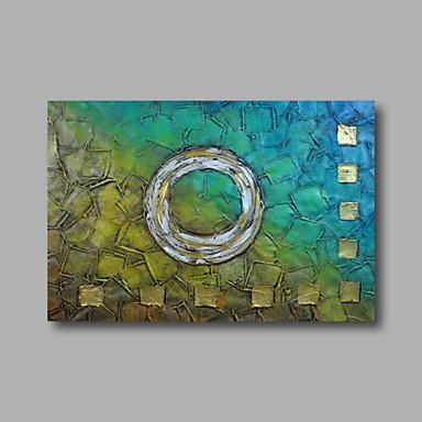 Pintura a Óleo Pintados à mão - Abstrato Modern Tela de pintura / Lona esticada