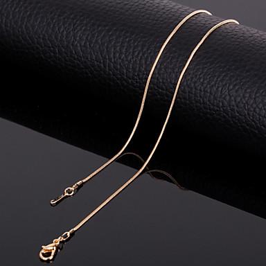 Zincir Kolyeler  -  Titanyum Çelik Altın Kolyeler Uyumluluk Düğün, Parti, Günlük