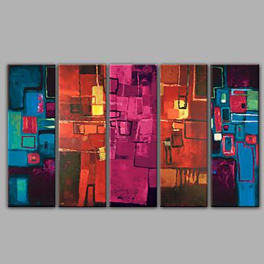 öt panel absztrakt olajfestmény a kiváló minőségű lakberendezésben