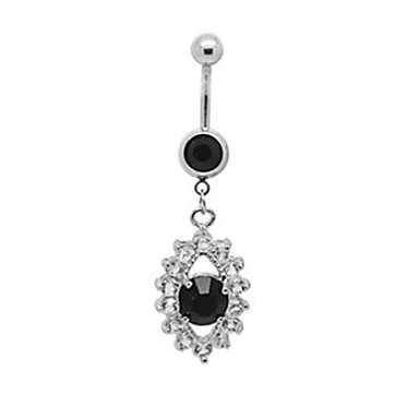 Navel Ring / Belly Piercing Stainless Steel Unique Design, Fashion Women's Silver Body Jewelry For Christmas Gifts / Daily / Casual