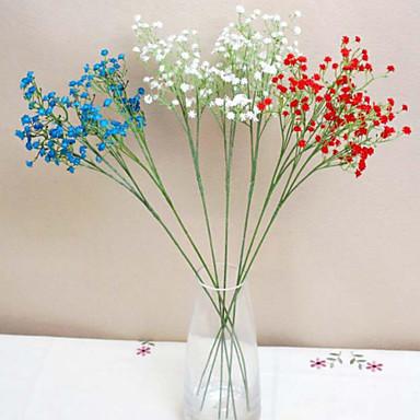 Kunstige blomster 1 Gren Enkel Stil Brudeslør Bordblomst
