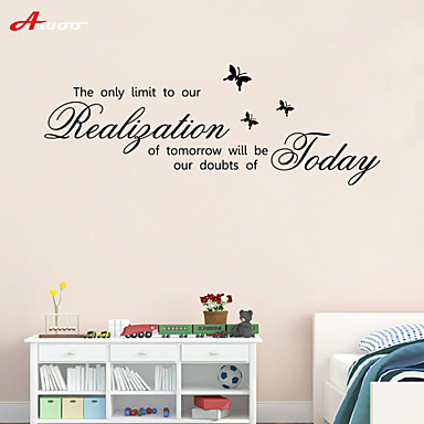 AWOO® Tomorrow Wall Sticker DIY Home Decorations Quotes Vinyl Wall Decals Wall Mural Art