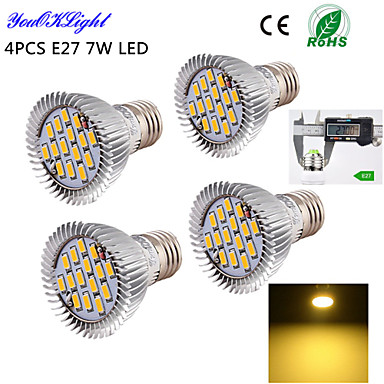 E26/E27 LED Spotlight A50 15 SMD 5630 600 lm Warm White 3000 K Decorative AC 220-240 AC 110-130 V