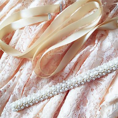Satin Wedding Party/ Evening Dailywear Sash With Beading Pearls
