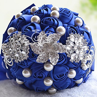 Wedding Flowers Bouquets Wedding Satin 9.84